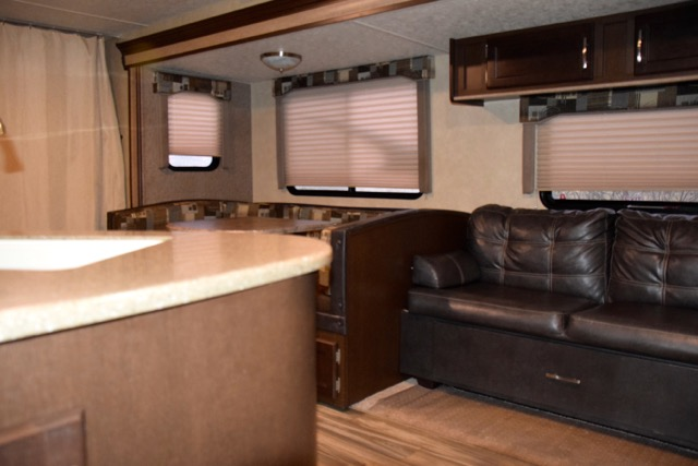 inside of the RV