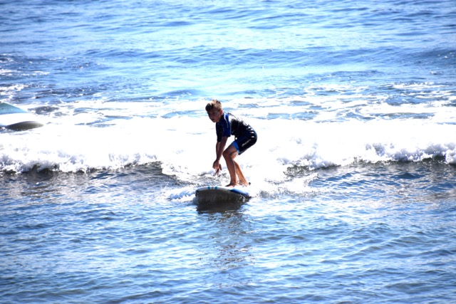surfing Old Man's at San Onofre