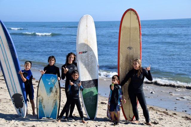 Moms, boys and surfboards....living the dream!