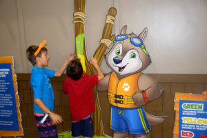 taking measurements at the Great Wolf Lodge Fall