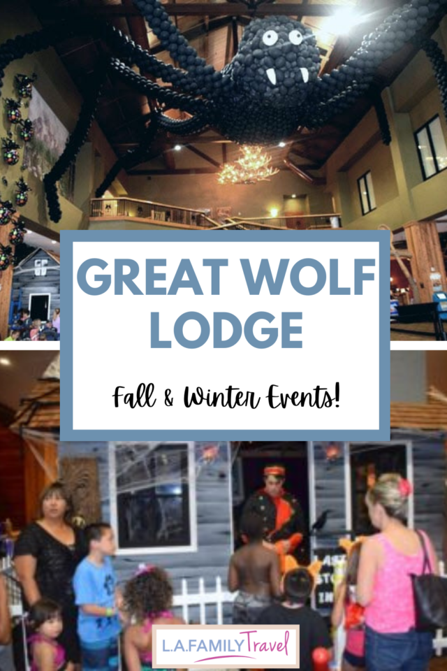 Great Wolf Lodge has haunted houses, spooky decorations and trick or treating during the fall and santa visits during the winter!