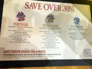 Great Wolf Lodge Paw Passes