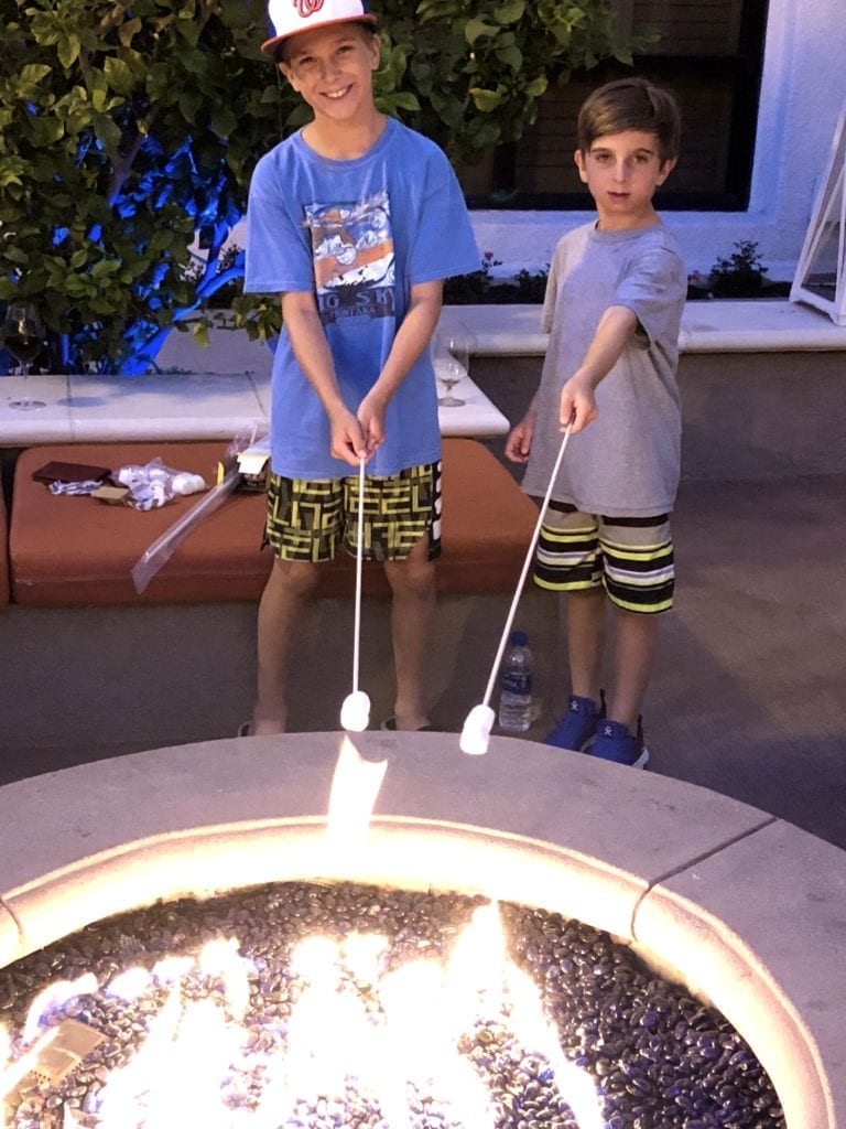 Hyatt Regency Westlake staycation fire pit