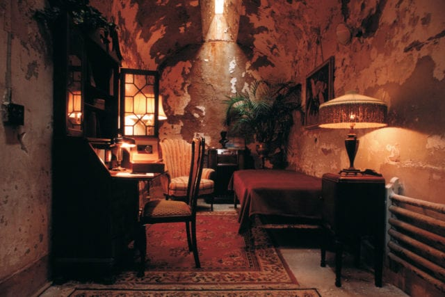 Al Capone's cell in Eastern State Penitentiary - Photo by Tom Berault