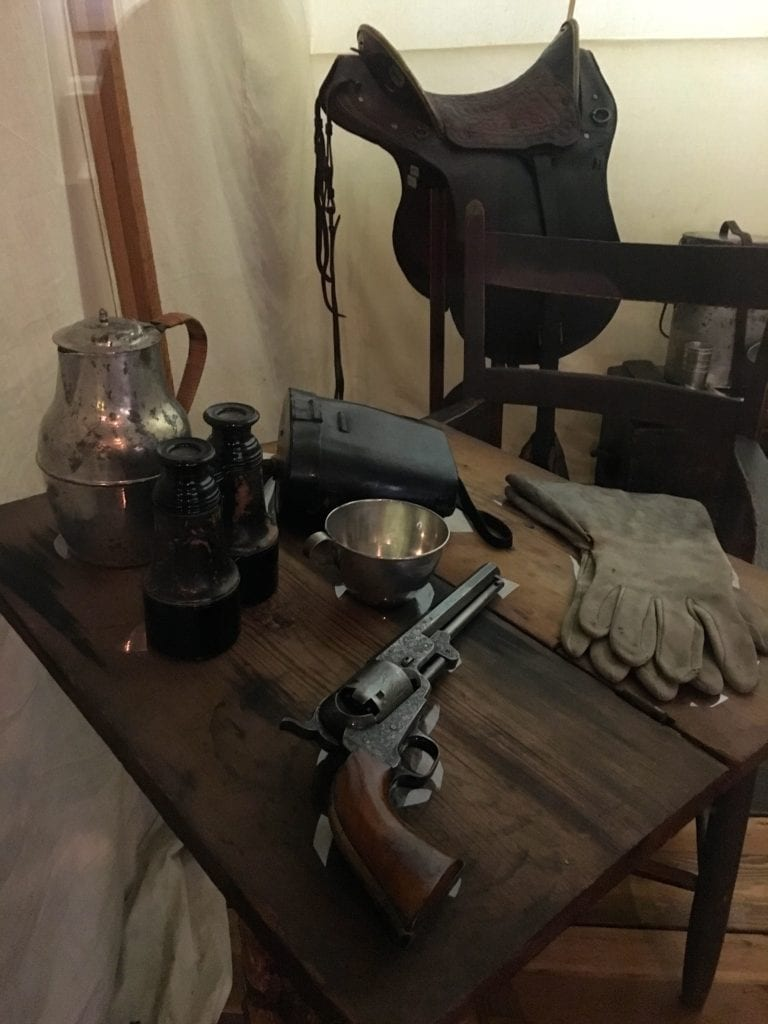 General Robert E. Lee's saddle and gun - Photo by Samantha Davis-Friedman