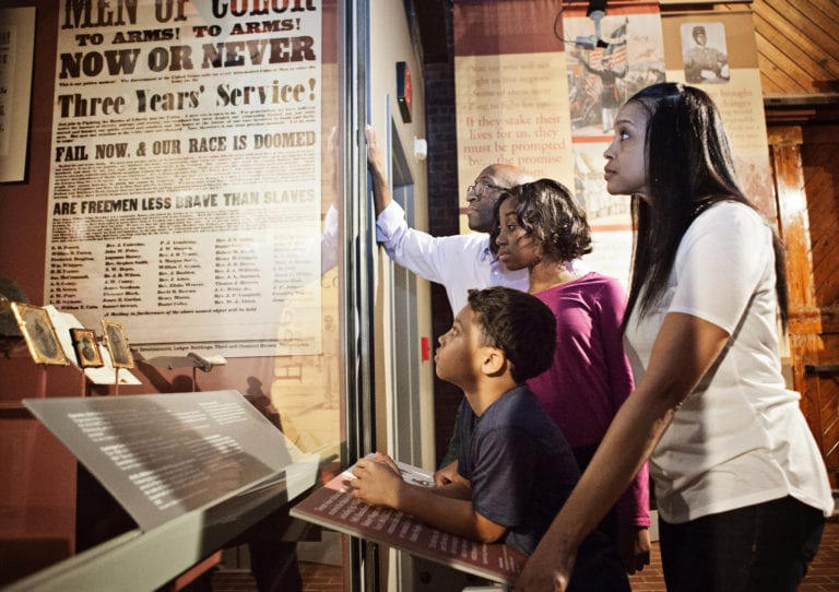 families can have a hands on learning experience at the new American Civil War Museum - Photo courtesy of American Civil War Museum