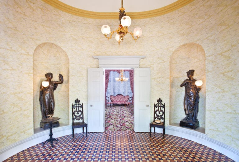 Many notable political figures of the Civil War period passed through this entrance hall, including Abraham Lincoln - Courtesy of the American Civil War Museum