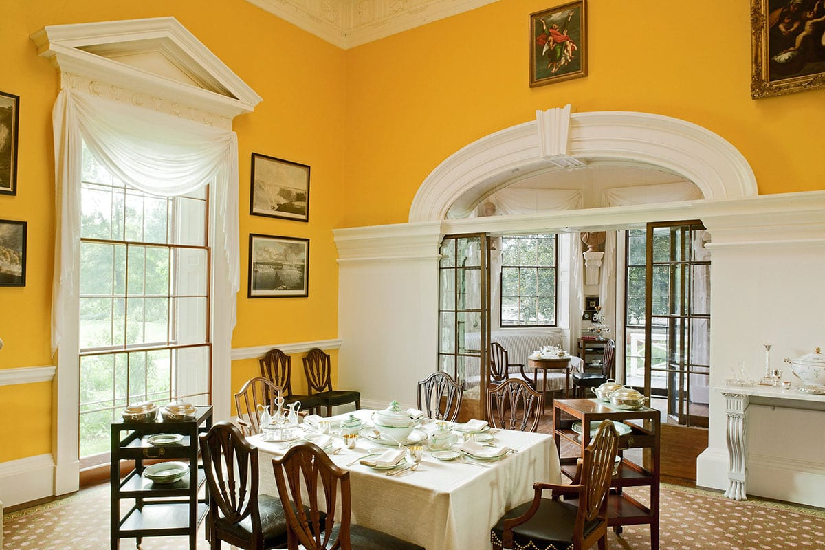 Monticello Dining Room - Photo by Sequoia Designs and courtesy of Thomas Jefferson Foundation at Monticello