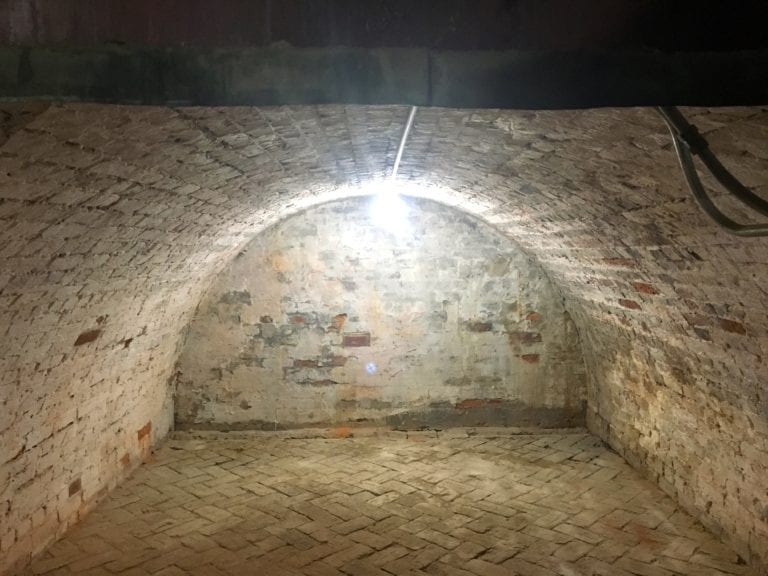 Sadly, there is no secret passageway in this vault in Mount Vernon's basement - Photo Credit Samantha Davis-Friedman