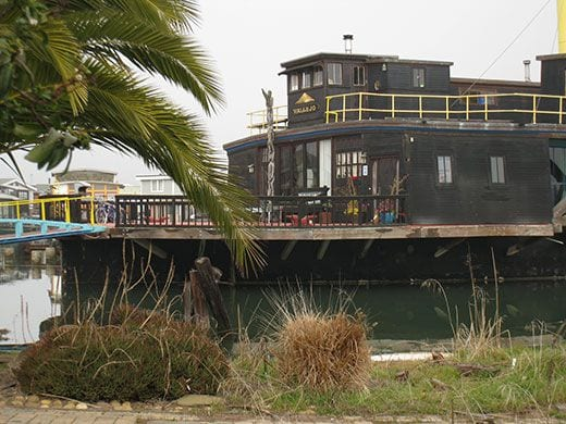 The Vallejo, which started its life as a ferryboat in Portland sits in Richardson Bay as a floating home