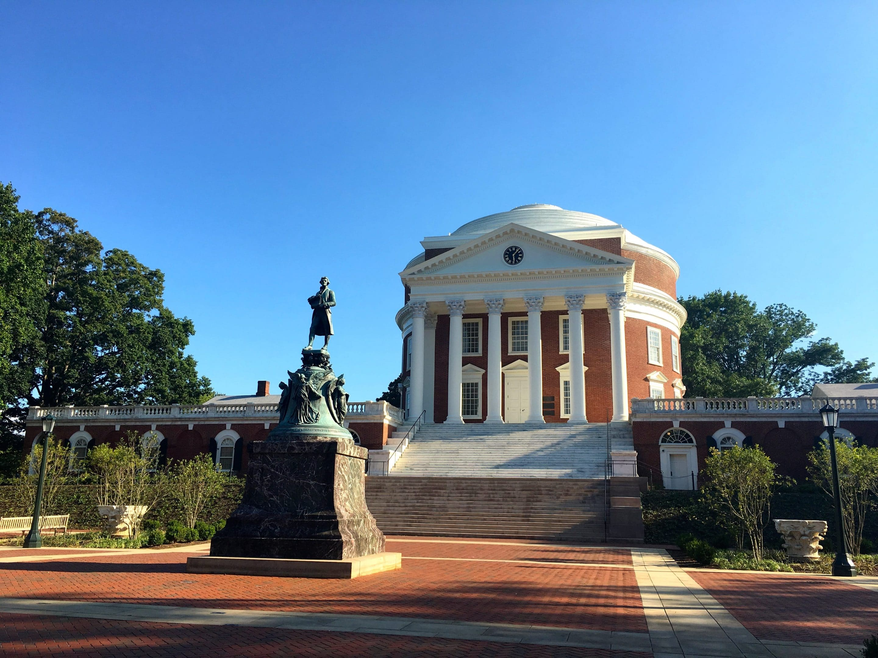 The Rotunda at the University of Virginia reflects Monticello's architectural style - Photo by Samantha Davis-Friedman