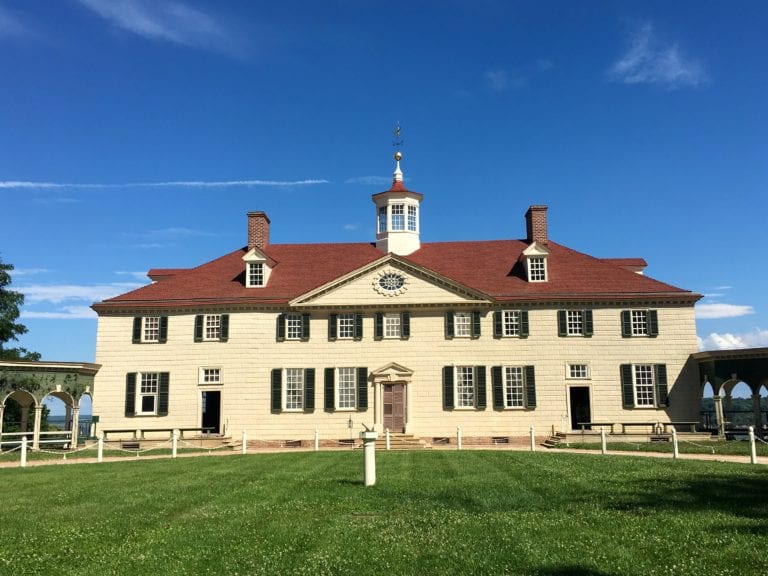 Washington added the side wings and two additional stories to the simple farmhouse he inherited in 1754 - Photo by Samantha Davis-Friedman
