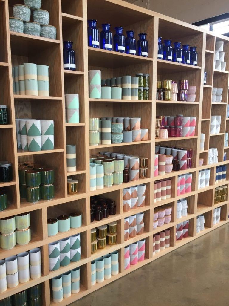 Candle Bar Wall of Vessels Better than a coffee mug © Charlene Ross