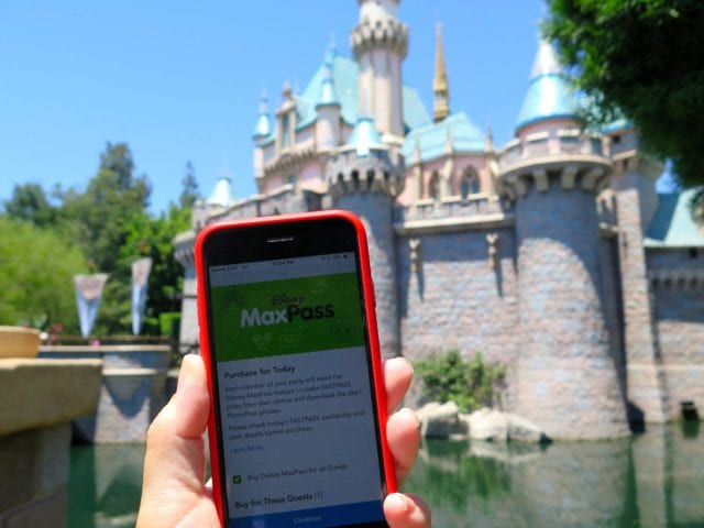 Once Disneyland guests purchase Disney MaxPass, they can make FastPass selections for their entire group through the Disneyland app - Photo Credit Samantha Davis-Friedman