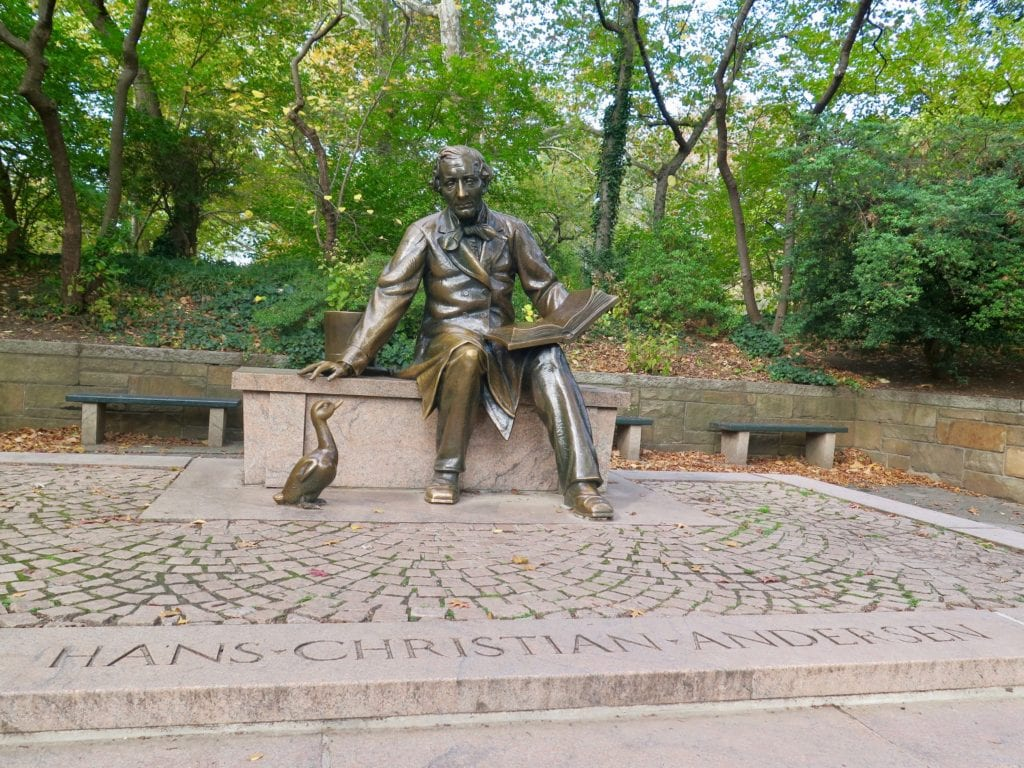 The Hans Christian Anderson statue is the spot to catch children's story time at 11am on summer Saturdays - © Samantha Davis-Friedman