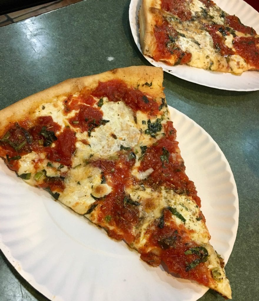 The Nona Maria at Bleecker Street Pizza was voted best pizza on the Food Network in 2014 - Photo Credit Samantha Davis-Friedman