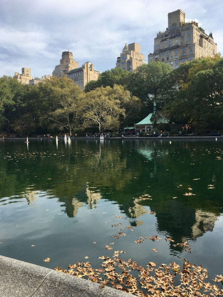 Conservatory Water in Central Park is where colorful toy sailboats are raced on Saturday mornings at 10am from spring 'til fall - Photo Credit Samantha Davis-Friedman