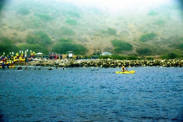 Santa Cruz Island at Scorpion Ranch - cave kayaking channel islands