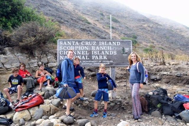 Scorpion Ranch at Santa Cruz Island - cave kayaking channel islands