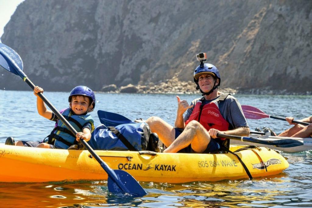 cave kayaking Santa Cruz island Ventura California
