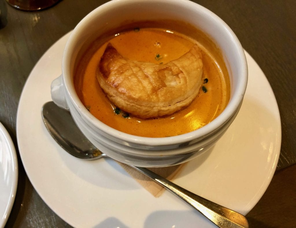We started our Freedom Trail food tour with lobster bisque - Photo Credit Samantha Davis-Friedman