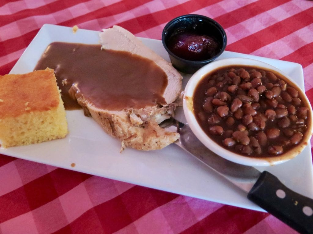 We tried Boston Baked beans with turkey and cornbread - Photo Credit Samantha Davis-Friedman