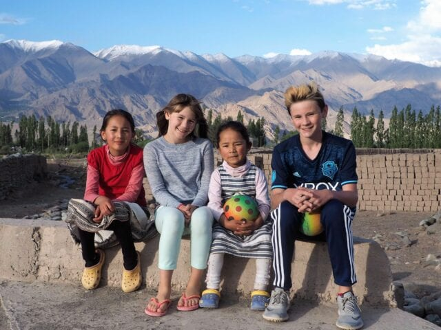 Playing on the Roof of the World Ladakh - volunteer family travel to India