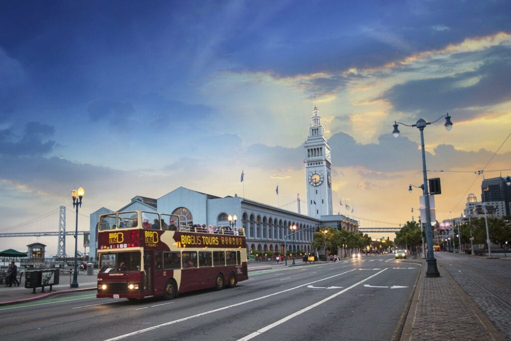 Hop-on, Hop-off is an easy way for families to see all the sights and attractions – Photo courtesy of Big Bus Tours San Francisco