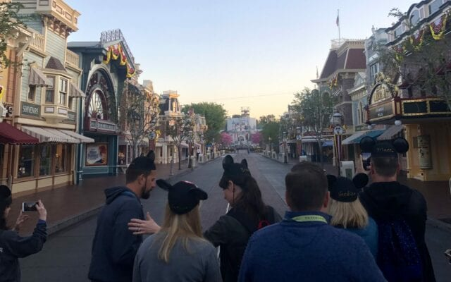 Main Street Disneyland - disneyland family vacation package Adventures by Disney