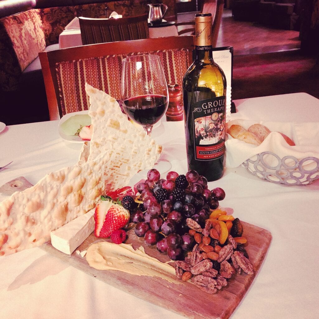 Charcuterie platter at South Coast Winery Resort and Spa