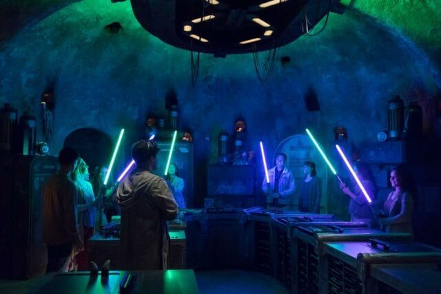 At Savi's Workshop, guests will customize and craft their own lightsabers - Photo by Joshua Sudock/Disney Parks