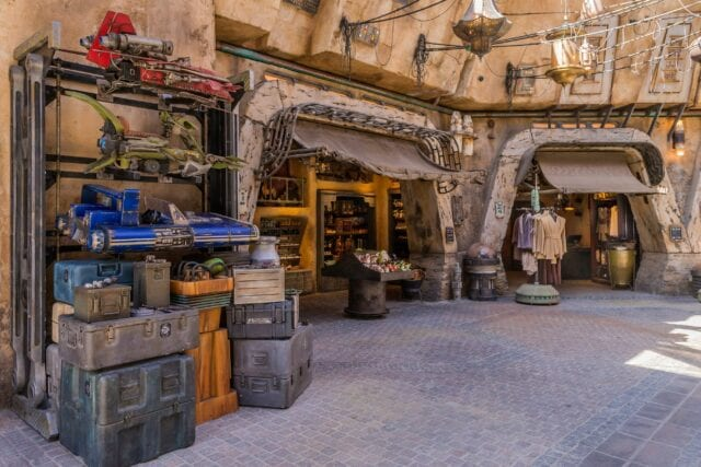 The marketplace of Black Spire Outpost offers authentic Star Wars creations - Photo by Joshua Sudock/Disney Parks
