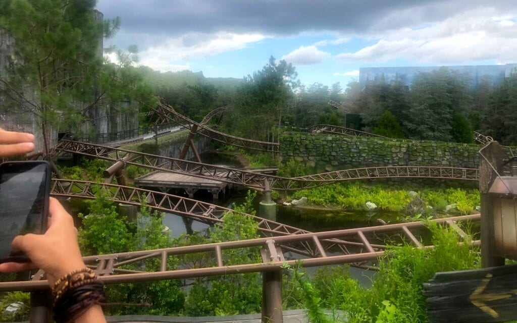 Fly over at Hagrid's Magical Creatures Motorbike Adventure, Universal Studio, Orlando FL