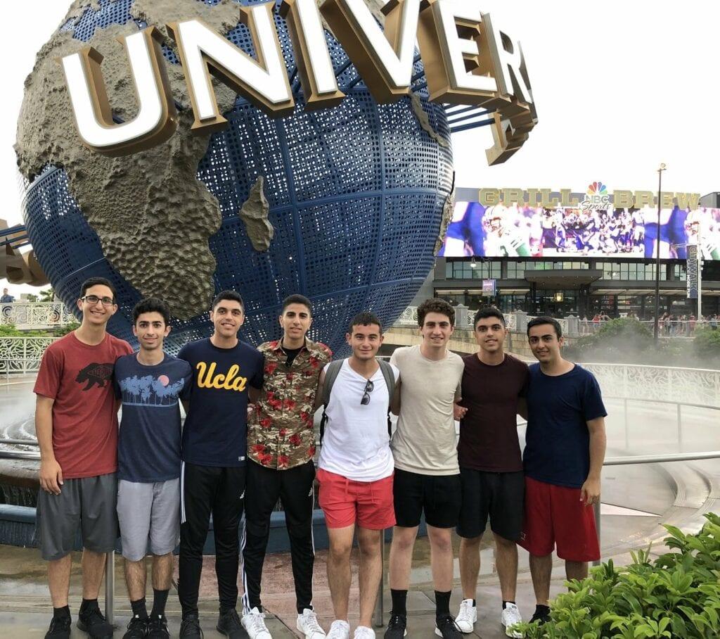 Teens at Universal Studios Orlando