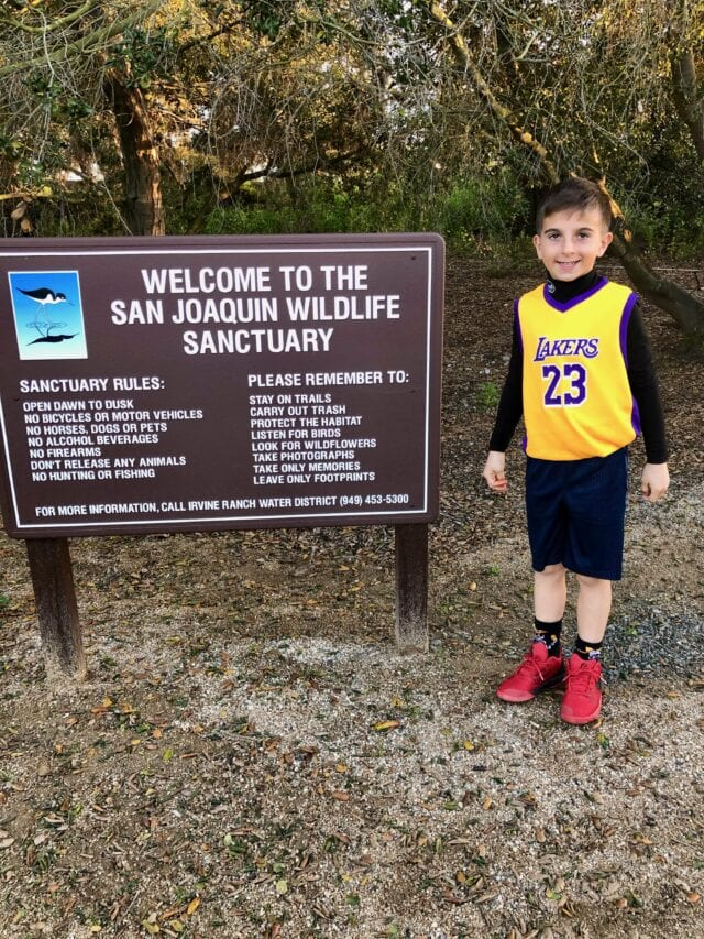 San Joaquin Marsh and Wildlife Sanctuary sign - best things to do in Irvine with kids