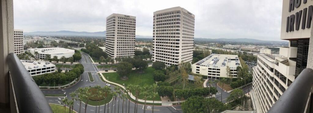 Hotel Irvine view