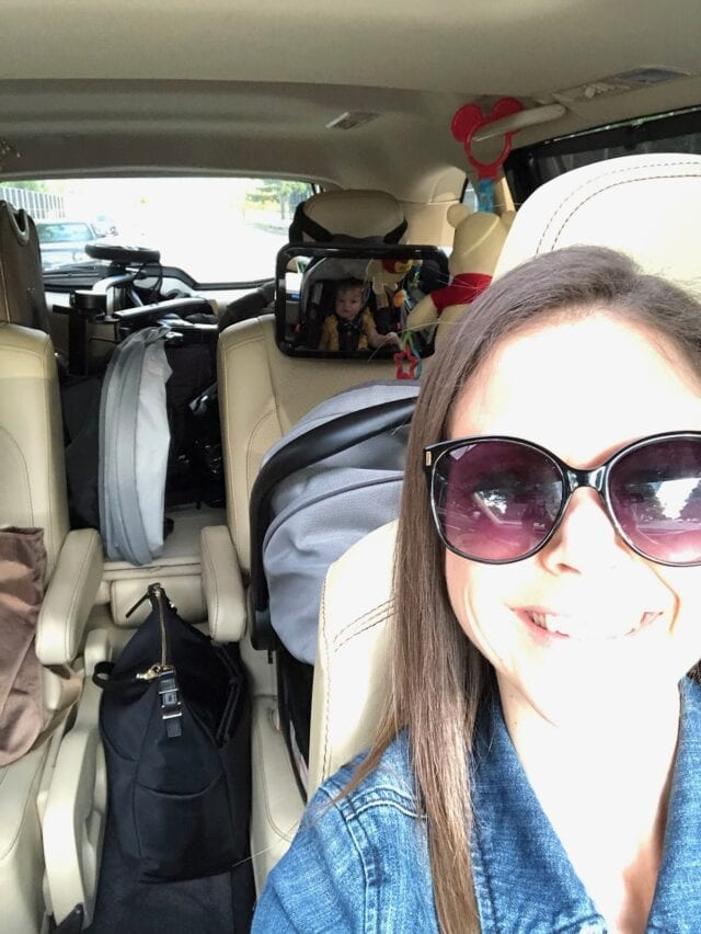 car shot - How To Survive Flying with Baby Your First Time