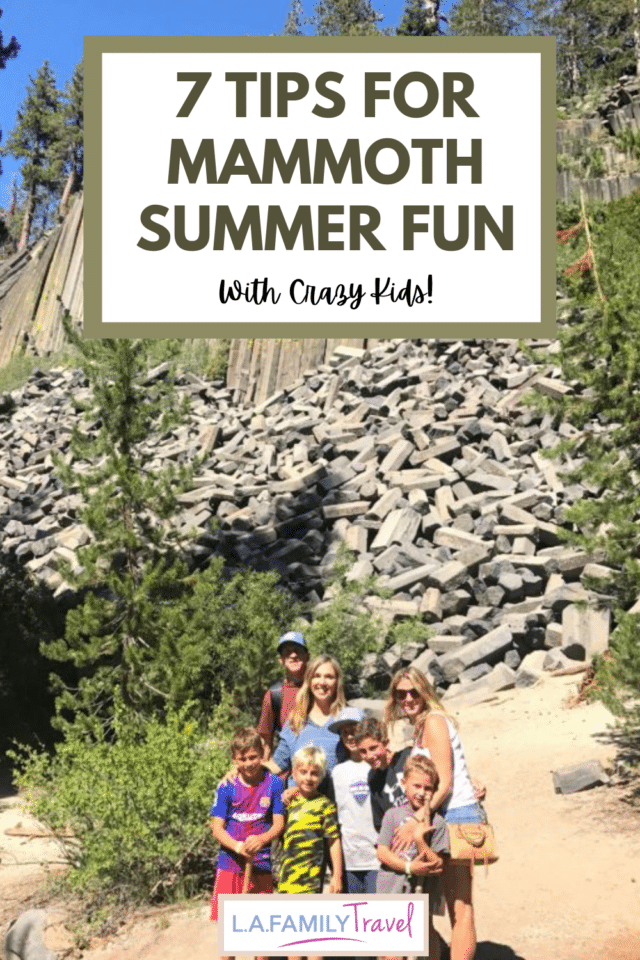 MAMMOTH Lake with kids is full of opportunity for fun and adventure! Check out these 7 tips that will make your family trip so much fun! June Lake and family travel fun!