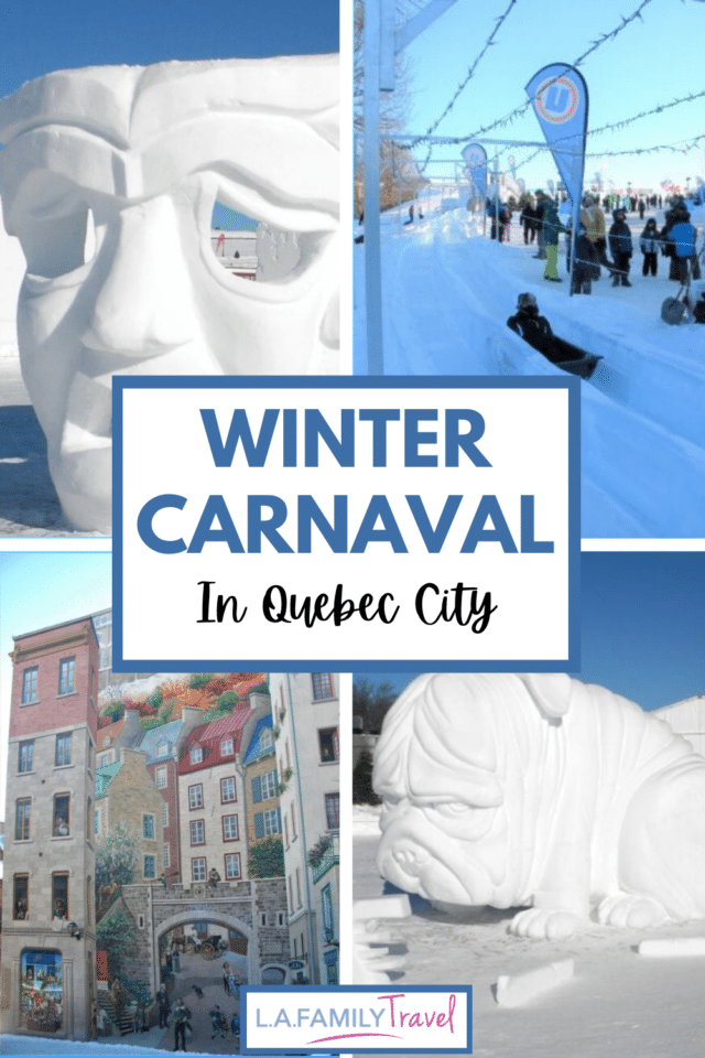 An easy family trip to Canada! Winter in Quebec City has never been so beautiful! See the ice sculptures during the annual Winter Carnaval and a complete city guide!