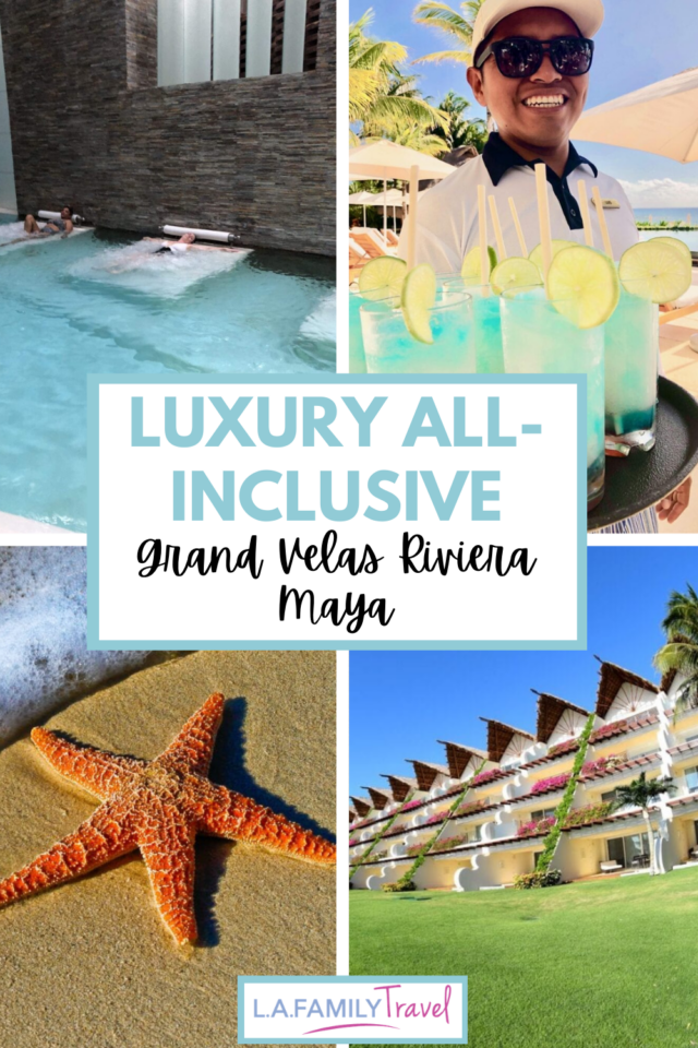 Grand Velas Riviera Maya a luxury all-inclusive hotel that is 5 stars and 5 diamonds. Perfect for a luxury family vacation.