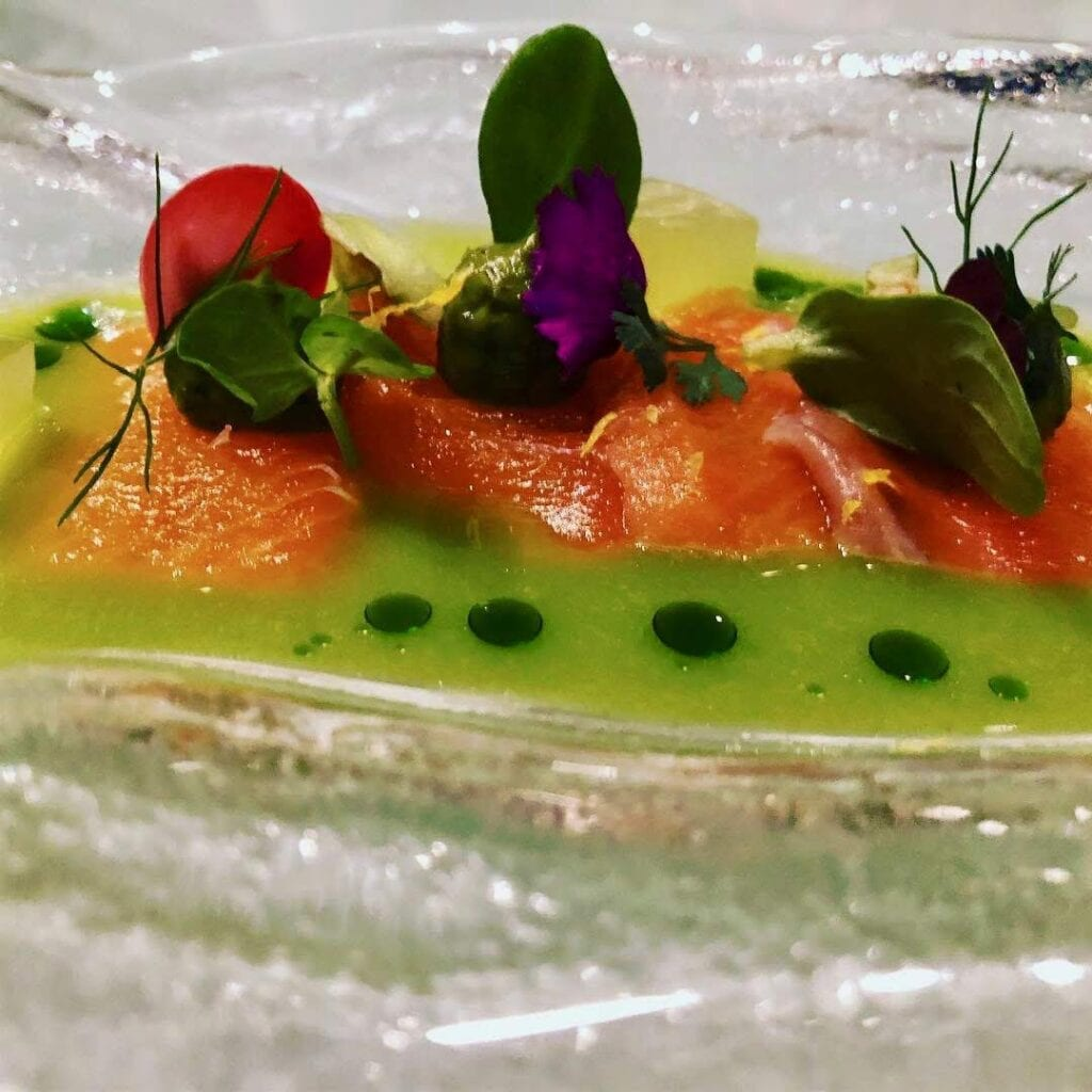 Gazpacho with raw tuna, avocado and apple at Cucina de Autor