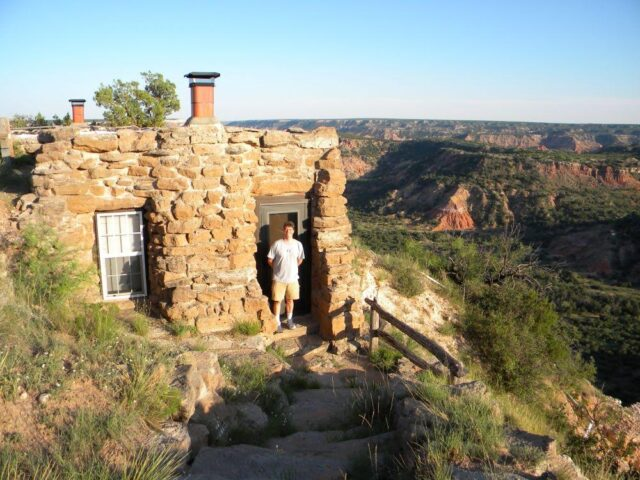 What a wonderful opportunity to stay in a cliff side cabin and watch the sunrise and sunset in Palo Duro Canyon State Park in Texas