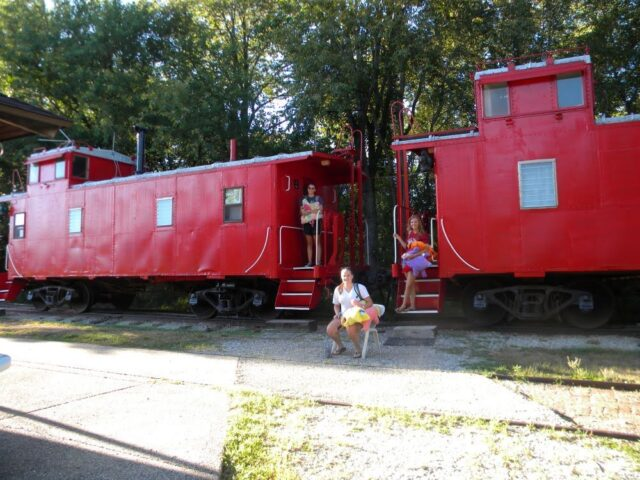 Besides seeing and learning about prairie wildlife, staying in a train caboose is another fun thing to do in Wildlife Prairie State Park in Illinois