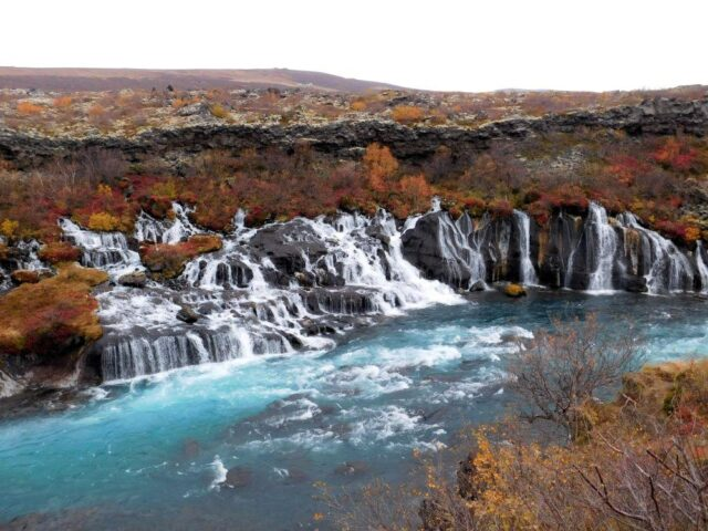 Hraunfossar Waterfall in Iceland was just amazing, especially in the fall.