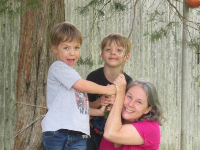 Cindy Devine with Jaren and JT