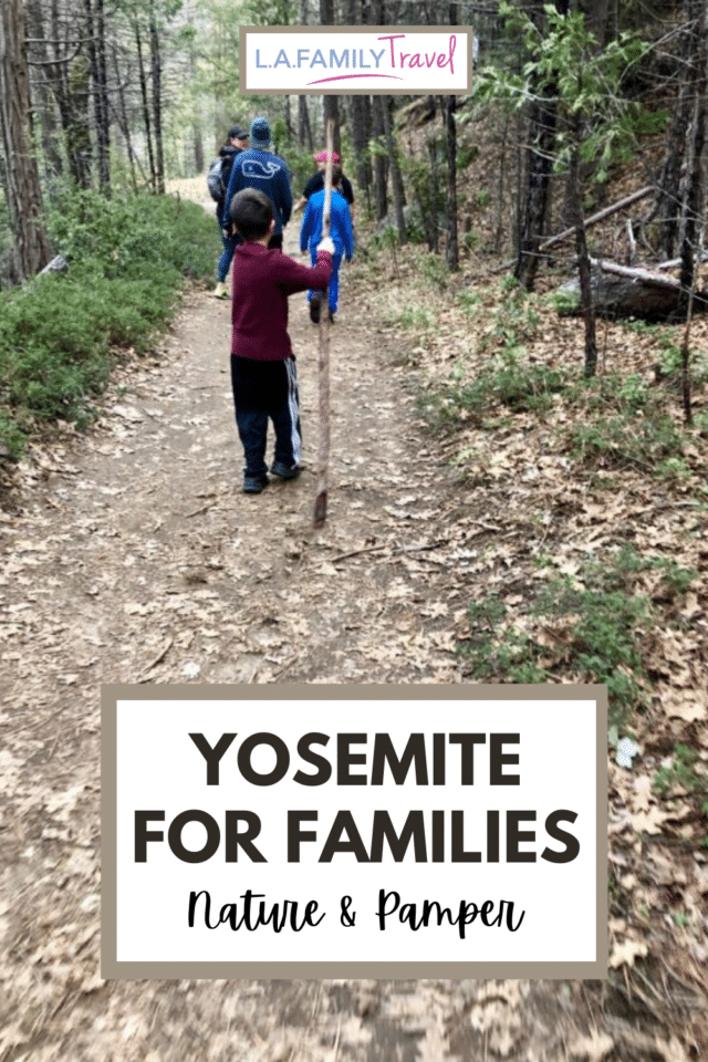 Visiting Yosemite with kids on a family trip can be incredible. Stay at the Tenaya Lodge where you can experience Yosemite nature in a luxury travel setting. Spas, private ice rinks and snowshoe hikes await!