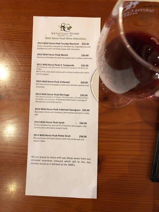 South Coast Winery Resort