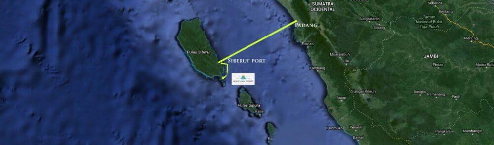 Mentawai Island map