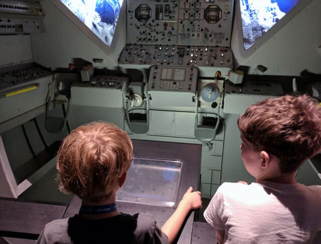 Our whole family enjoyed Space Center Houston, but my boys especially loved the hands-on activities and games.
