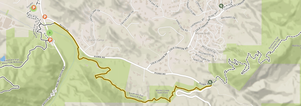 Piuma Ridge Hiking Trail